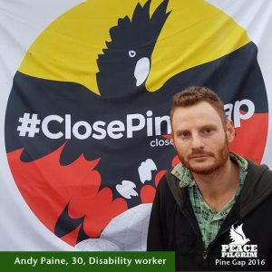 Andy Paine #PineGapPilgrims