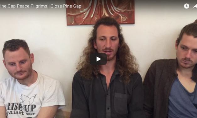 #PineGapPilgrims, Andy, Tim and Franz on Pine Gap