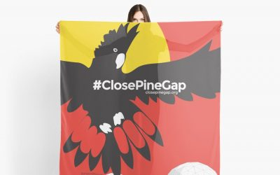 #ClosePineGap merchandise