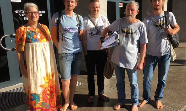 Peace Pilgrims fight Pine Gap charges: their actions intended to defend themselves and others from imminent disaster