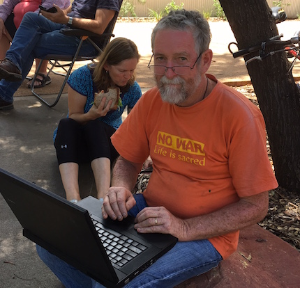 Peace Pilgrims: evidence on why, not if they were at Pine Gap
