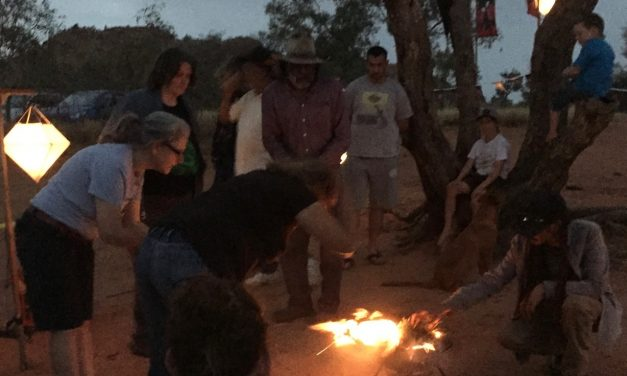The Welcome to country Smoking Ceremony