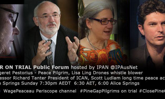 War on Trial Public forum on Periscope